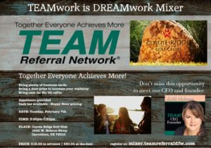 TEAM REFERRAL NETWORK Mixer Flyer