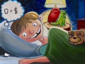 Children's Book (oils and digital editing)