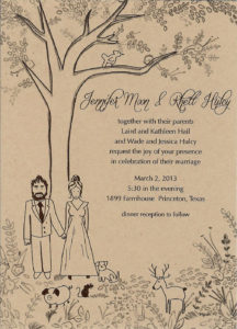Wedding Invitation (Pen & Ink)